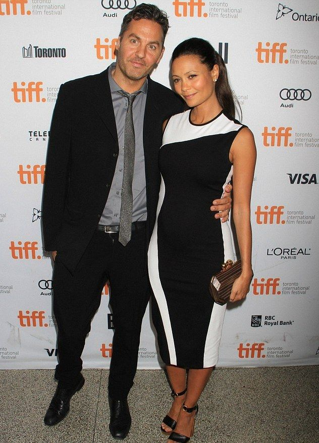 Thandie Newton with her writer-director husband Ol Parker - At the Toronto Film Festival premiere of her new movie ' Half Of A Yellow Sun'.  (September 2013)