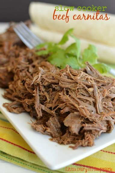 Slow Cooker Beef Carnitas I do this all the time with slight variation ~so good!