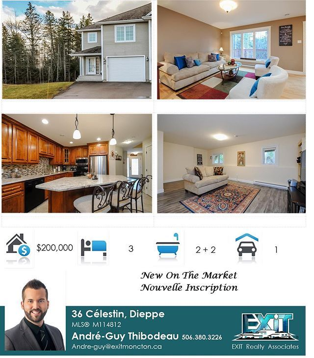 PLEASE SHARE 🏡❤️ 36 Celestin, Dieppe ❗️❗️❗️ ACCEPTED offer the 1st day on the MARKET ❗️ There is still some buyer's / vendor's out there even with the approaching Holiday season! Contact me TODAY for a free consultation regarding your real estate needs ! It will be my pleasure ❗️😊🏡❤️💎👔 SVP PARTAGER 🏡❤️ 36 Celestin, Dieppe ❗️❗️❗️ Offre d'achat ACCEPTÉ, la 1e journée sur le marché ❗️ Il y as encore des acheteurs et vendeurs malgré la saison du temps des fêtes qui approche VITE! Contacté…