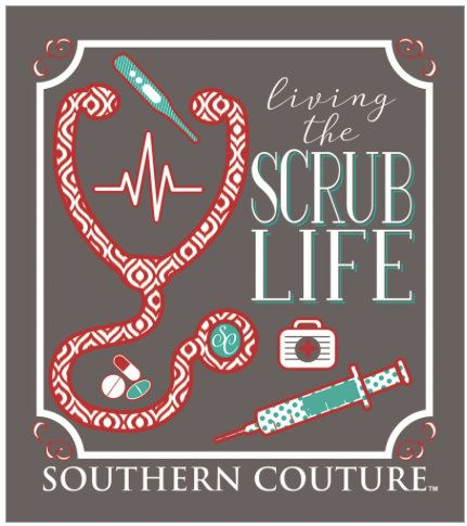 Southern Couture, like Simply Southern,    SC Classic Scrub Life - Charcoal  short sleeve tee shirt, Nurse Tee Shirt, Nurse, Doctor, by ExpressYourselfbySta on Etsy