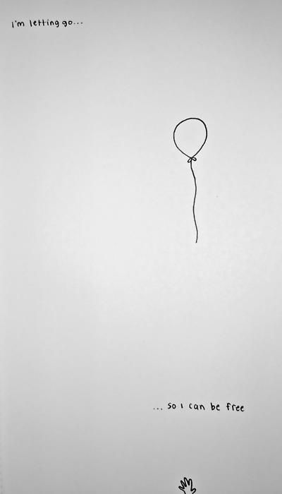 "Totally wrote a song a while back called ""The Balloon""....""I'm letting go of this balloon, letting it fly to the stars....if I'm lucky it'll get that far and float away."""