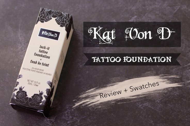 The Haunted Housewife - Kat Von D Lock-It Tattoo Foundation Review