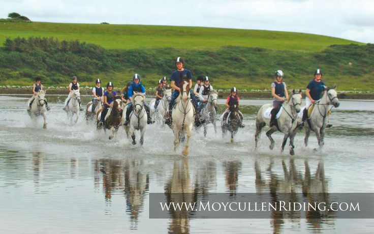 pony trekking on the beach with Moycullen Riding Centre