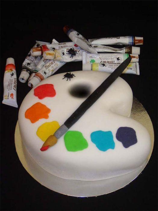 Artist Palette Cake Template : Awesome Birthday Cake Designs (6) Remys birthday cake Pinterest