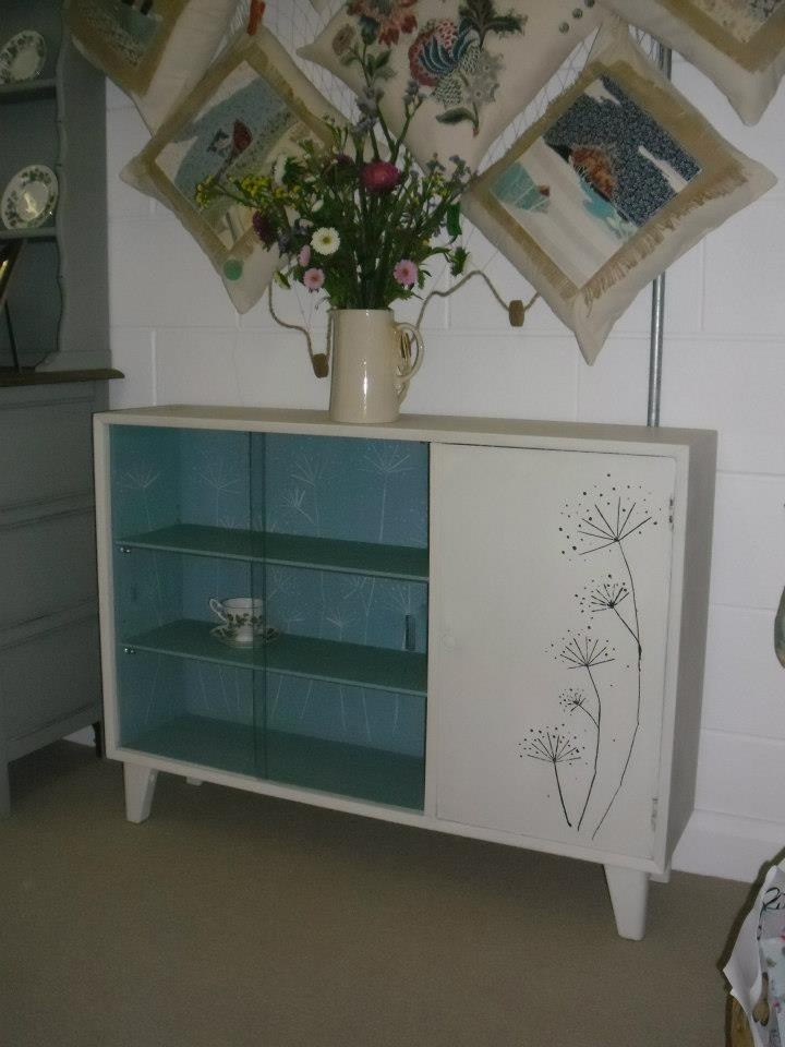 Cowparsley painted lebus cabinet. SOLD