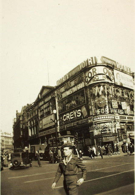 Piccadilly Circus, during World War Two.