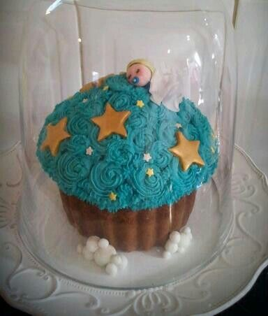 Giant cupcake baby shower