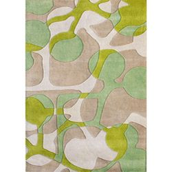 Hand-tufted of New Zealand blended wool, this rug features an intricate geometric pattern. Soft tones of beige, lime green and Arcadian green highlight this rug.http://www.overstock.com/Home-Garden/Handmade-Metro-Beige-Area-Rug-8-x-10/5797906/product.html?CID=214117 $340.99
