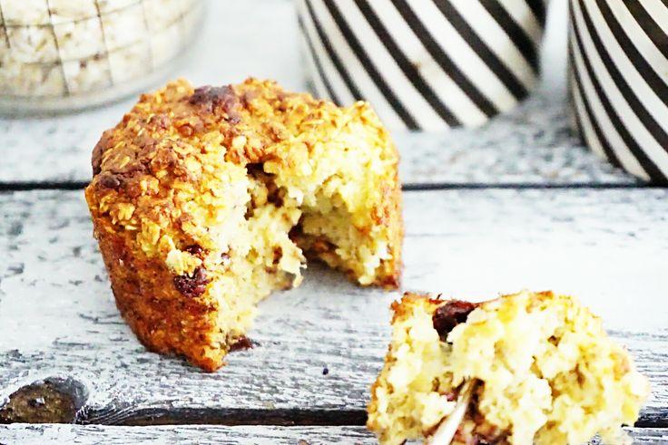 Net als ik gek op de combinatie van havermout met banaan en chocolade? Dan vallen deze havermoutmuffins vast bij je in de smaak!