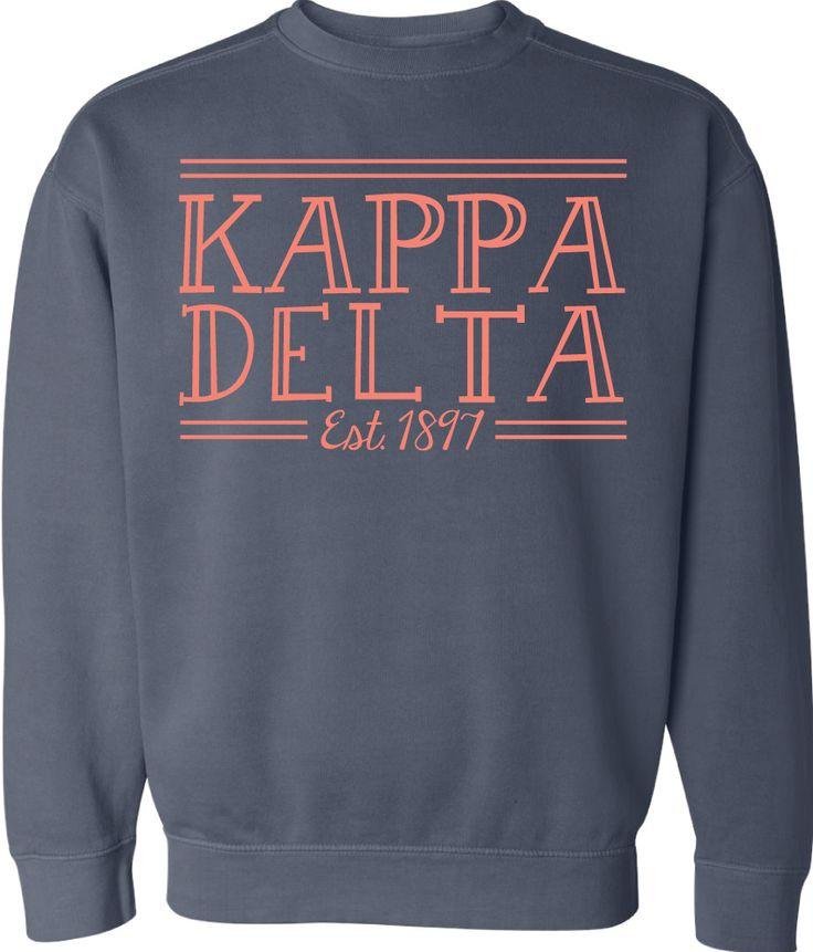 gokotis.com | Kappa Delta! #CrewNeck #KappaDelta #KD #Kappa #Sorority (145083)