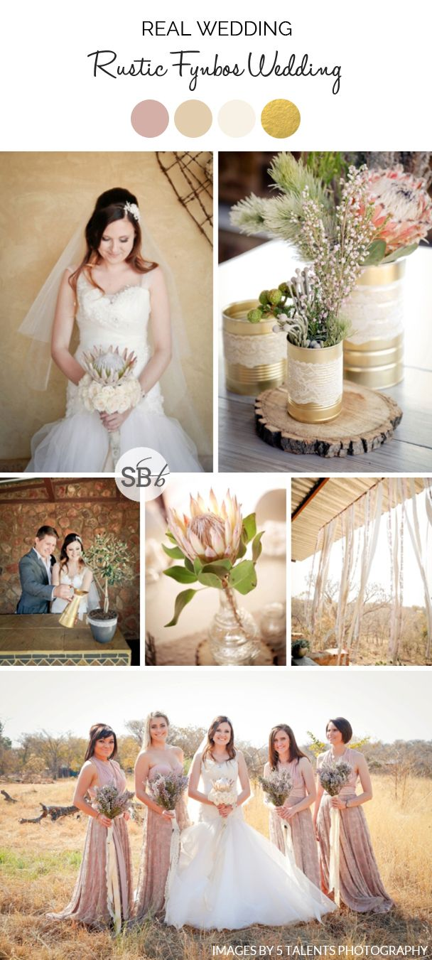Rustic Protea Wedding | SouthBound Bride | http://www.southboundbride.com/rustic-fynbos-wedding-at-makinky-manzi-by-5-talents-photography-jean-marie-jaques | Credit: 5 Talents Photography