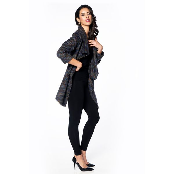 Ladies, this one is major. Our tailored coat features a large cowl neck collar and an asymmetrical zip design and pockets.    Content: 50% Acrylic, 50% Polyester    Fit: Slim