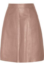 Cut from incredibly soft leather, Gucci's A-line skirt has the mod '60s feel that defined the Fall '14 collection.