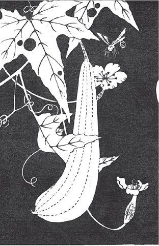 『糸瓜(へちま)』伊藤若冲 Jakuchu Ito