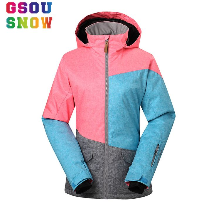 Gsou Snow Winter Women Ski Jacket Waterproof 10000 Breathable 10000 Warmth Coat Female Outdoor Patchwork Snowboard Sport Jackets