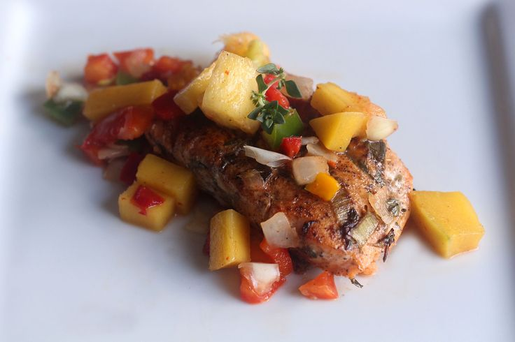 Jerk Salmon with Mango salsa. This dish is a modern day dish with a twist. Perfect for fish lovers and people who love to eat healthy. The Jerked salmon and ... Read More