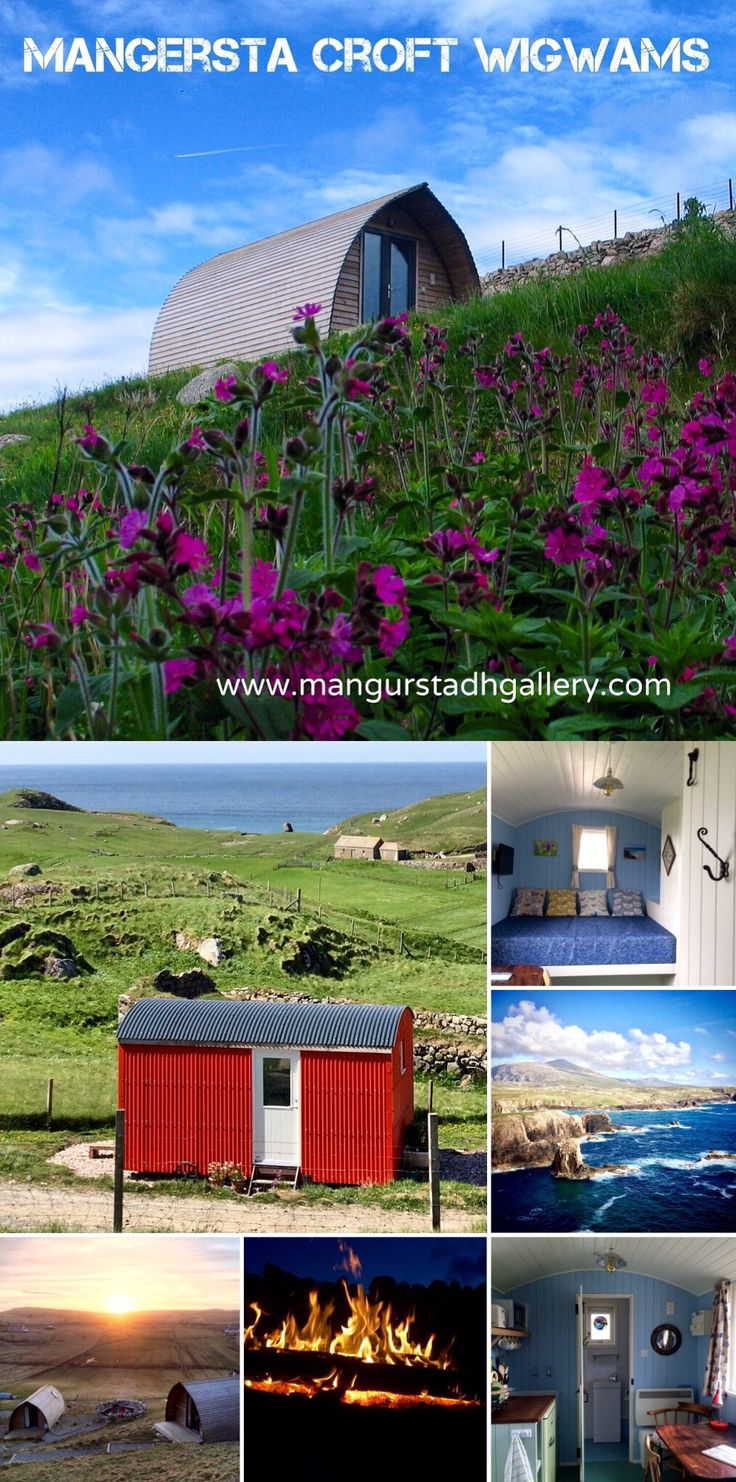 Holiday accommodation on a working Croft in Mangersta on the west coast of Lewis in the Western Isles, Scotland