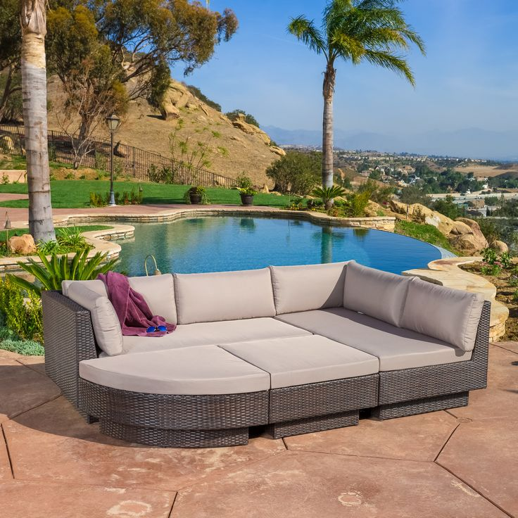 Home Loft Concept Malakia 4 Piece Deep Seating Group with Beige Cushions    Reviews   Wayfair. 87 best Patio Furniture images on Pinterest
