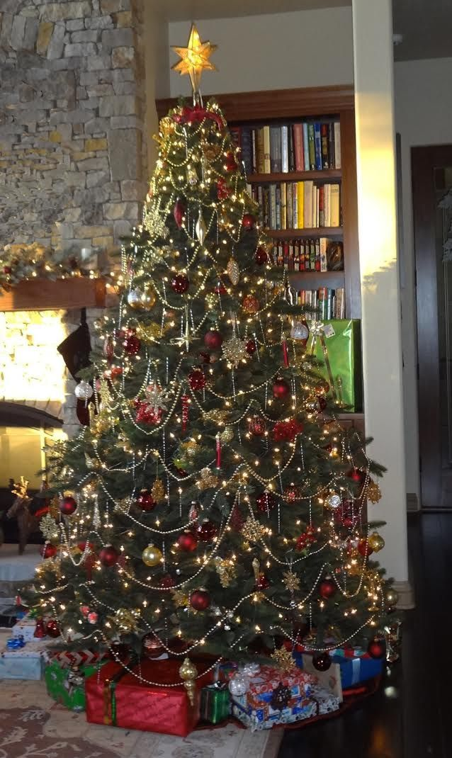 Traditional Christmas tree - how my family usually decorates our tree.
