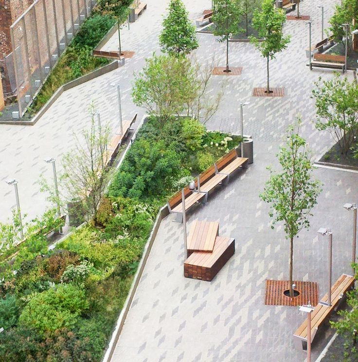 Best Commercial Landscape Design Commercial Landscape: Beekman Plaza © James Corner Field Operations