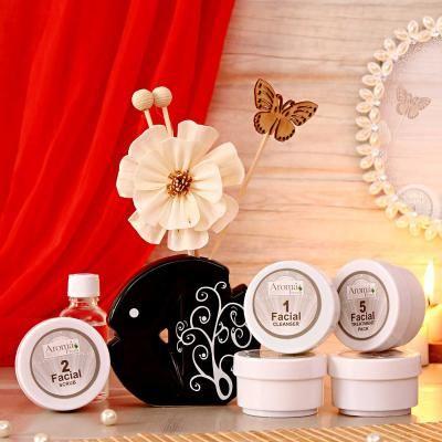 Aroma Pearl Facial Kit And Reed Diffuser Hamper