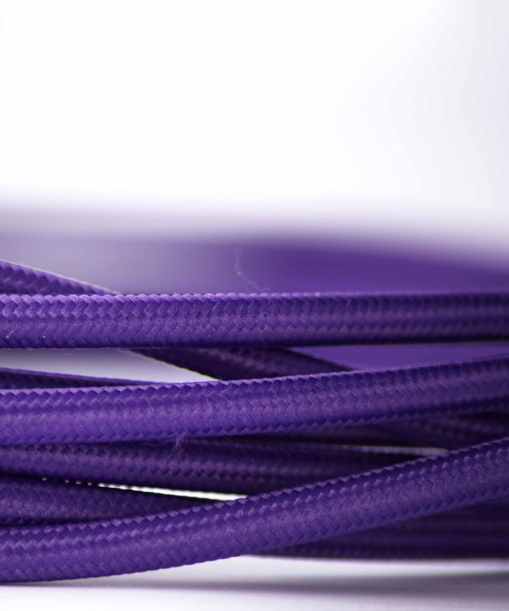 Vintage Fabric Electric Cable - Purple - William&Watson