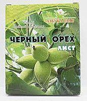 Черный орех лист (противопаразитарное,при лямблиозе, сахарном диабете), 25 грамм