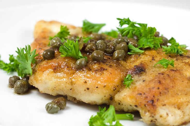 Dinner~Chicken Piccata  Lots of lemon, lots of capers and don't forget the artichoke hearts. Mmmmmm