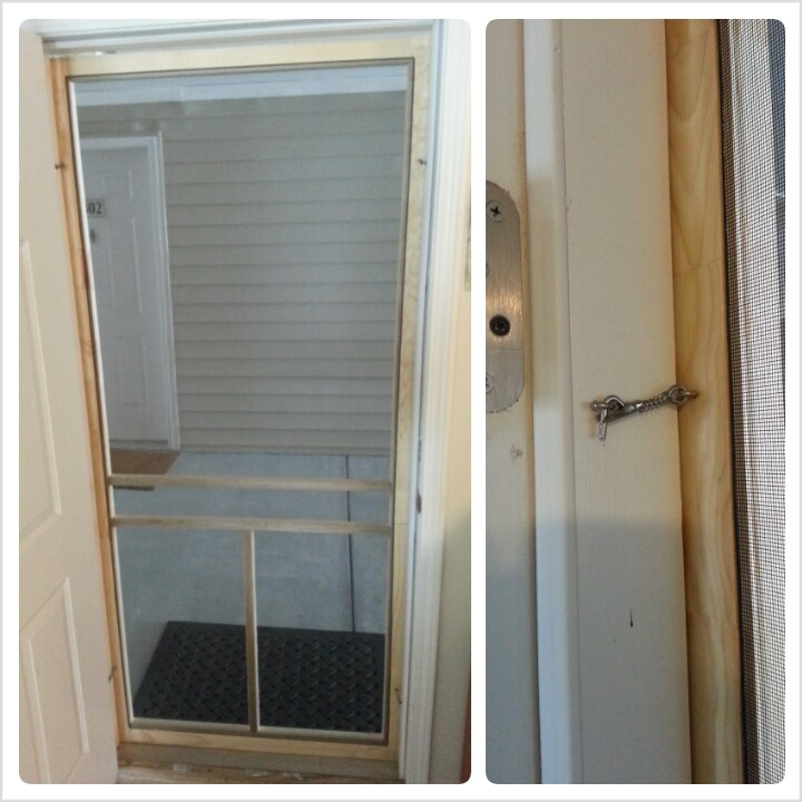Easy diy screen door for an apartment. Can only be used