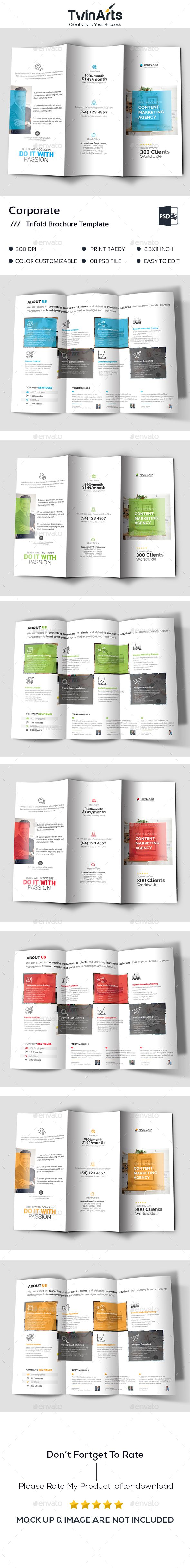 Trifold - #Brochures Print Templates Download here: https://graphicriver.net/item/trifold/19557028?ref=alena994