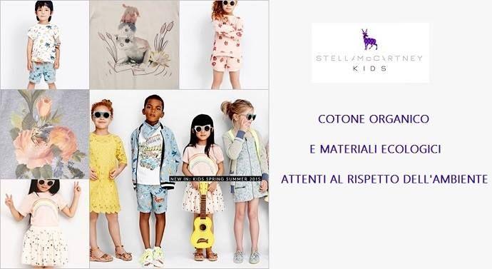 Per i nostri bimbi scegliamo il cotone organico di Stella McCartney Kids, online nella collezione Cocochic  http://www.cocochic.it/it/16_stella-mccartney-kids