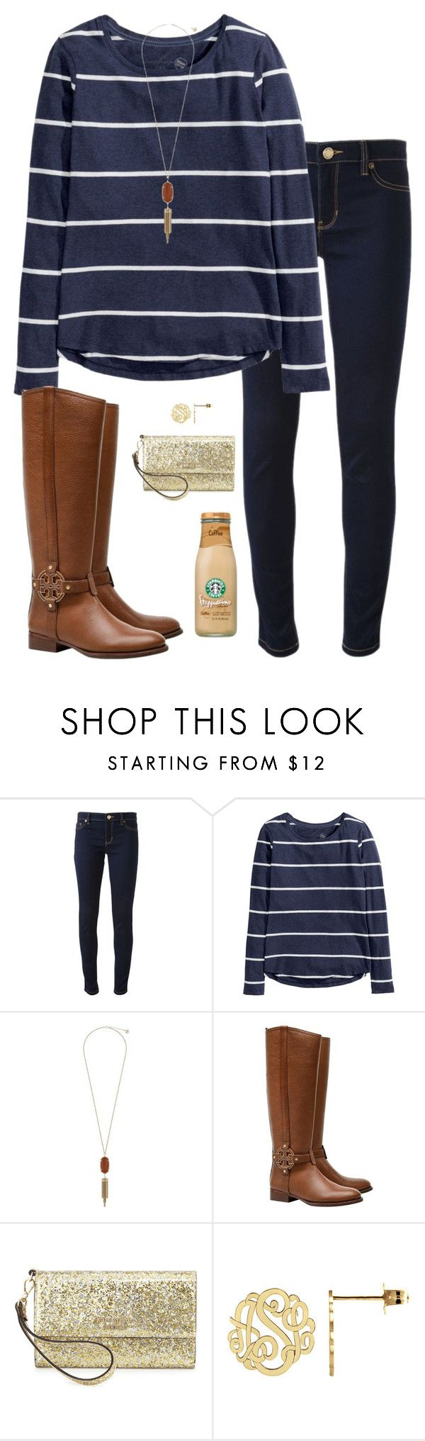 """""""Adeste Fideles"""" by sc-prep-girl ❤ liked on Polyvore featuring Michael Kors, H&M, Kendra Scott, Tory Burch and Kate Spade"""
