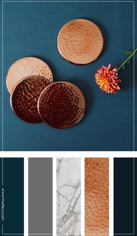 what colors look good with copper in a kitchen - Google Search