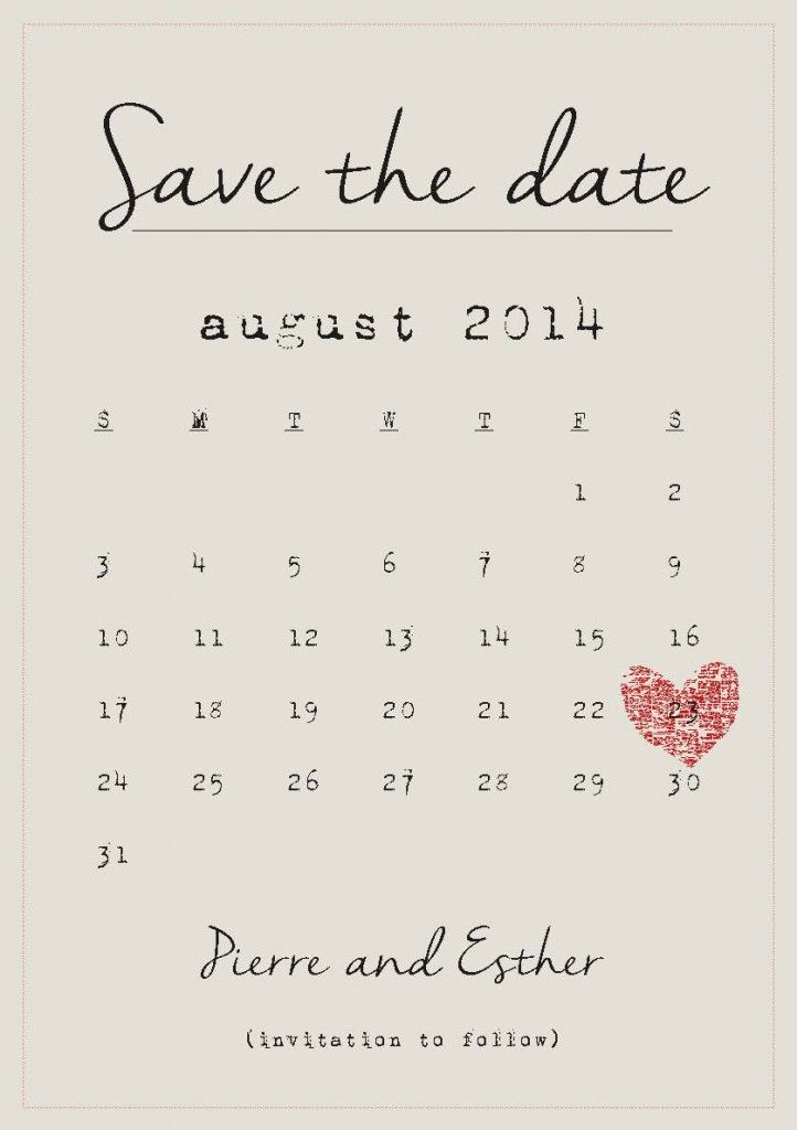 Save the date: wedding