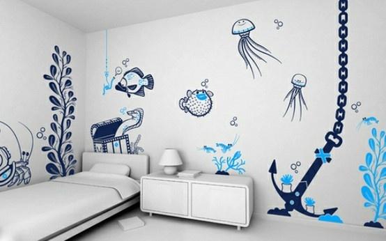 Cute mural for a kids room