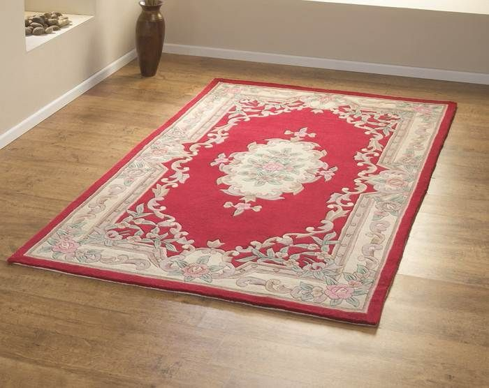 Chinese Rugs 510 Aubusson Full Cut In Red Online From The Rug Er Uk