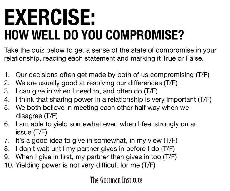 Gottman Compromise Psycho Pinterest