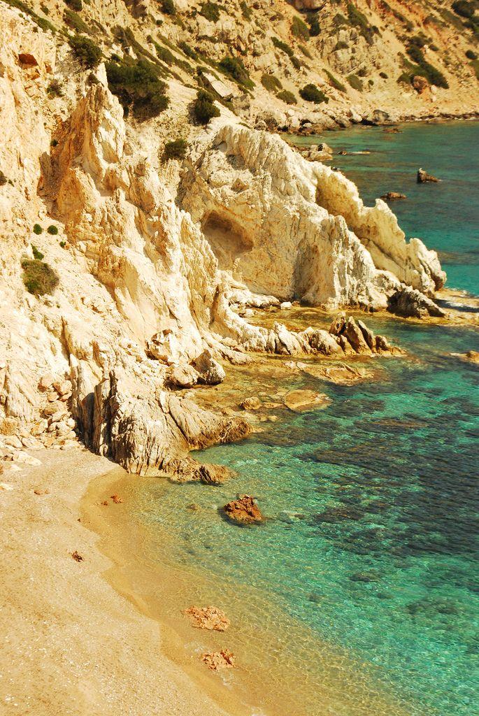 Vroulidia beach near Mastic village in Chios Island_ Greece