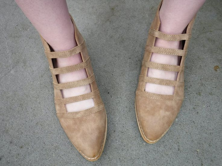 tan flat ankle booties