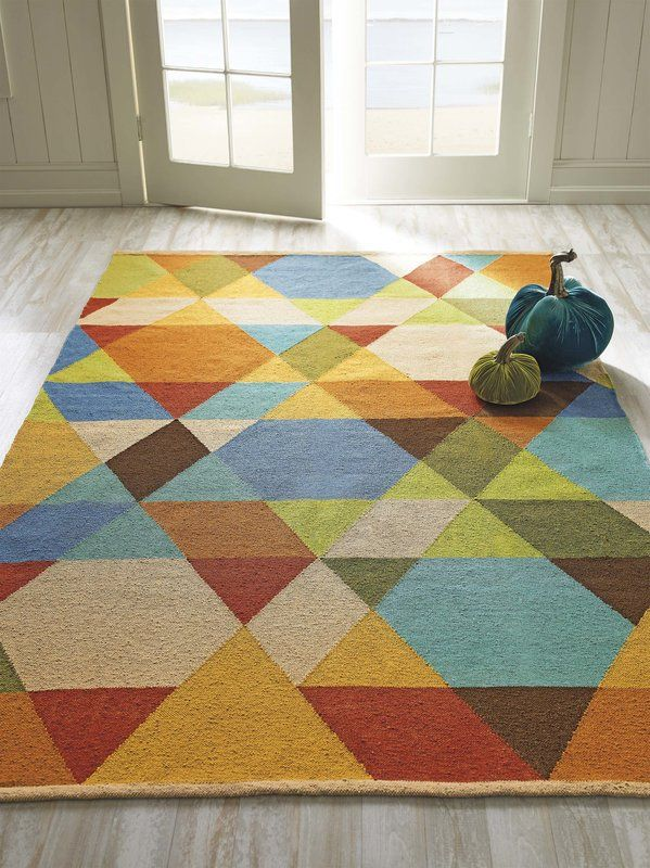 Geometric Handmade Flatweave Green Blue Area Rug Area Rugs Rugs Indoor Outdoor Area Rugs