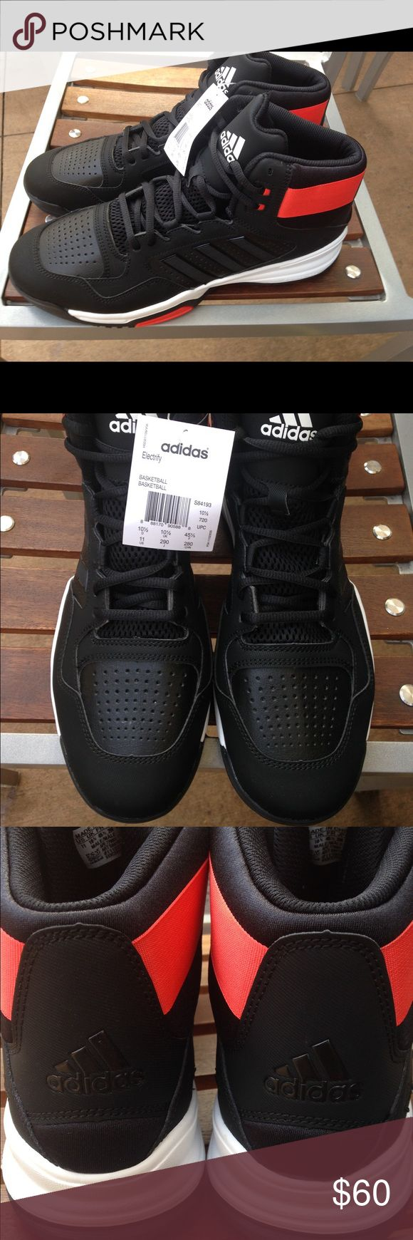 New Adidas Electrify Basketball Shoes Mens Size 11 New Adidas Electrify High Top Basketball Shoes Men's Size 11 Adidas Shoes Sneakers