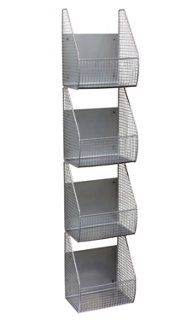 4-Tier Wall Basket Rack (for gloves, hats, etc in winter?)