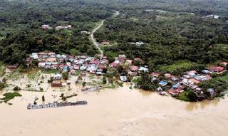 Gambar banjir Di Sarawak