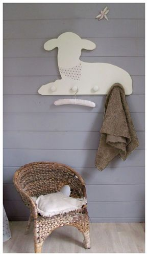 Customisable lamb coatpeg #homedecor #nursery #product                                                                                                                                                      More