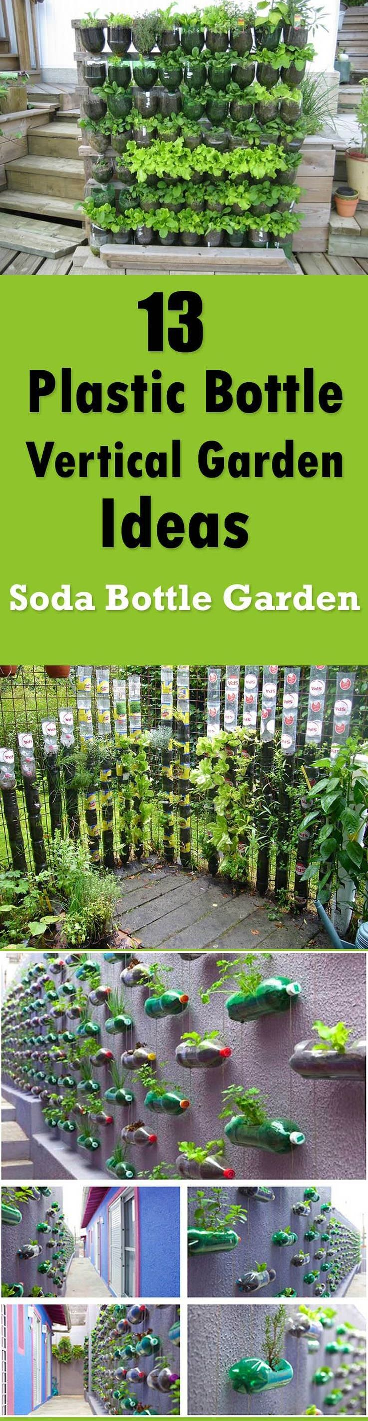 13 Plastic Bottle Vertical Garden Ideas | Bottle garden, Soda ...
