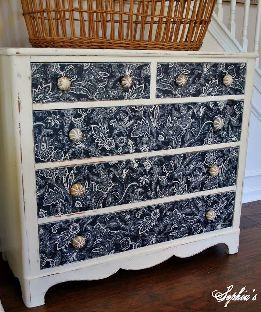Sophia's: Dresser Makeover with Fabric
