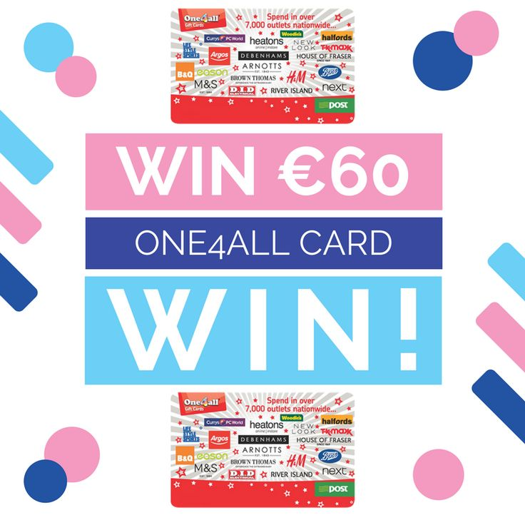 Win €60 One4all Gift Card (3 chances) - http://www.competitions.ie/competition/win-e60-one4all-gift-card-3-chances/