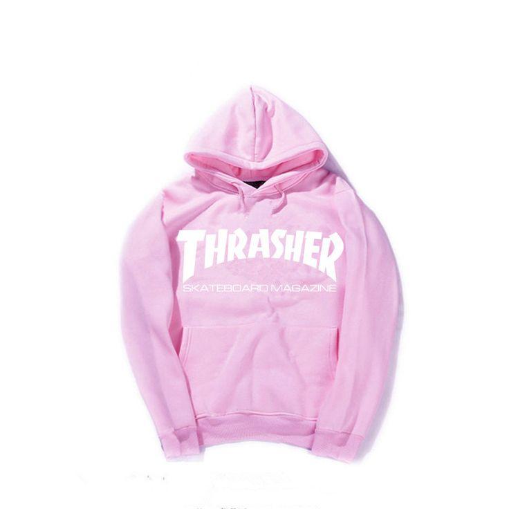 New 2016 Autumn Winter Fleece Skateboard Thrasher Sweatshirt Men Hoodies Women Streetwear Tracksuit Hooded Trasher Mens Hoodies
