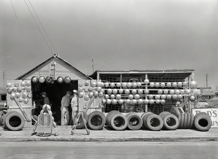 Corpus Christi Dealerships >> Auto Parts Store in Corpus Christi, Texas, photographed by Russell Lee, February 1939. | Gas ...