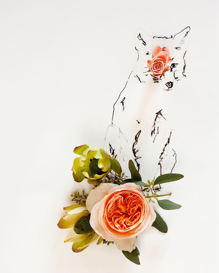 No 9888 fox and flower by kariherer on Etsy